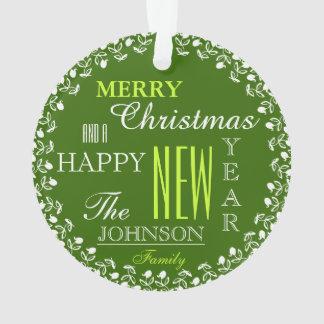 Photo Typography Christmas Ornament