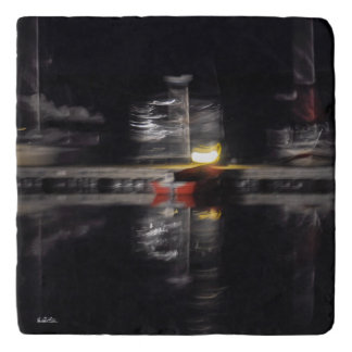 photo Under-dish abstracted, boats Trivet