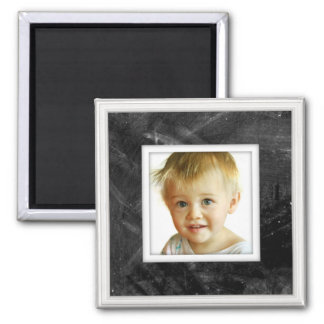 Photo Upload Faux Chalkboard Image Magnet