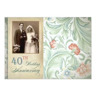 photo vintage 40th anniversary invitations
