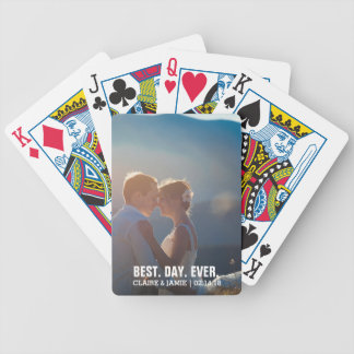 Photo Wedding Favors Create Your Own Best Day Ever Bicycle Playing Cards