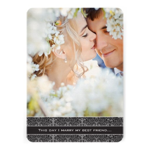 Photo Wedding Invitation I Marry My Best Friend 13 Cm X 18