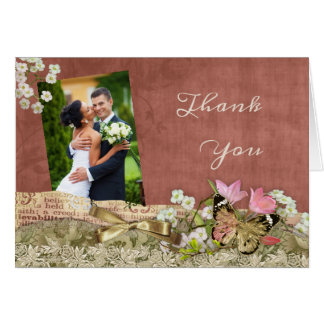 Photo Wedding Thank You Card