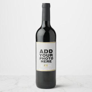 photo wedding wine wine label