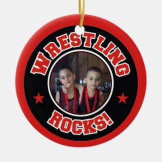 Photo Wrestling Rocks Christmas Ornament