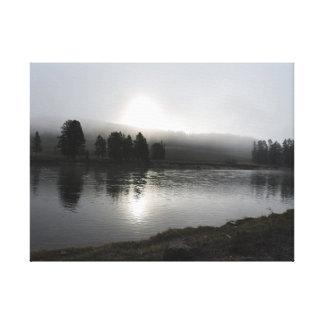 Photo Yellowstone National Park Landscape Canvas Canvas Print