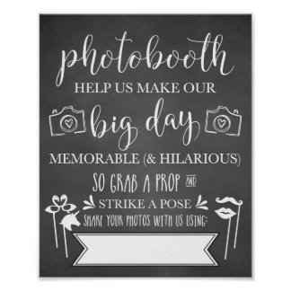 Photobooth Hashtag Wedding Party Sign
