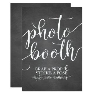 Photobooth Wedding Sign- Grab a Prop Strike a Pose Card
