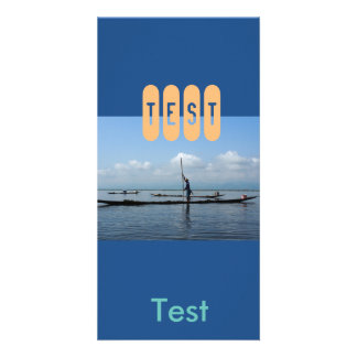 photocard blue photo card template
