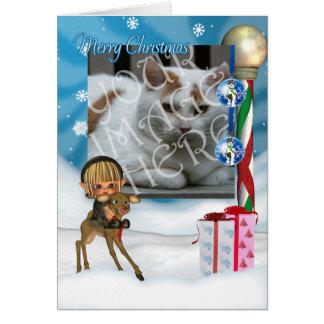Photocard Christmas Greeting Card Customise