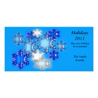 PhotoCard – Holiday Snowflakes Personalized Photo Card