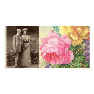 Photocard-Vintage Floral Custom Photo Card