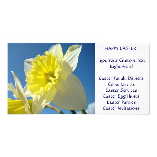 PHOTOCARDS Daffodils Easter Invitations Events Custom Photo Card