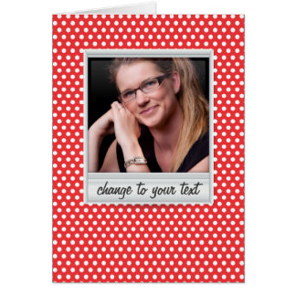 photoframe on white & red polkadot card