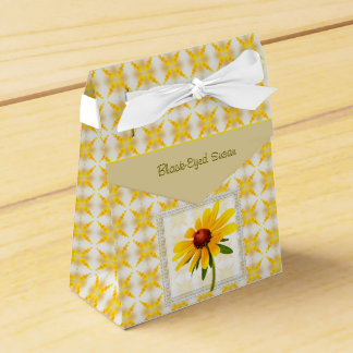 Photograph of A Black-Eyed Susan Blossom Wedding Favor Boxes