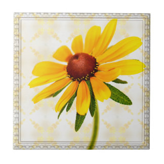 Photograph of A Black-Eyed Susan Blossom Ceramic Tiles