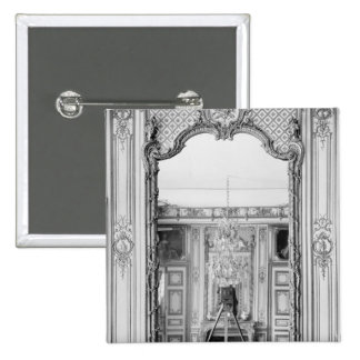 Photograph of a mirror at  Chateau de Versailles 15 Cm Square Badge