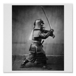 Photograph of a Samurai C. 1860 Poster