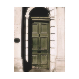 Photograph of arched doorway canvas print