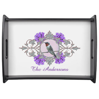 Photograph of Beautiful Hummingbird, Family Name Serving Tray