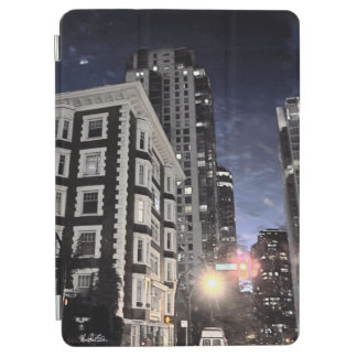 photograph of city the night iPad air cover
