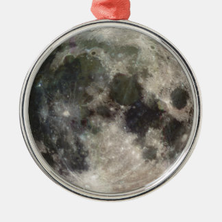 Photograph of Full moon Metal Ornament