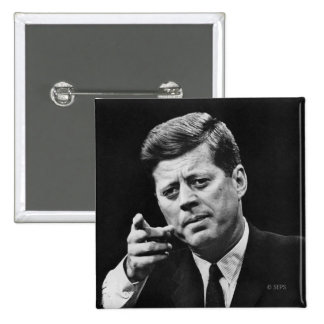 Photograph of John F. Kennedy 3 15 Cm Square Badge