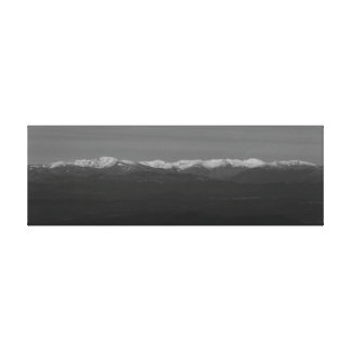 Photograph of landscape snow-covered from gallery wrapped canvas