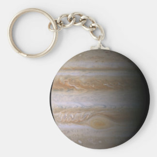 Photograph of the Jupiter planet Basic Round Button Key Ring