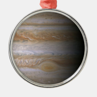 Photograph of the Jupiter planet Silver-Colored Round Decoration
