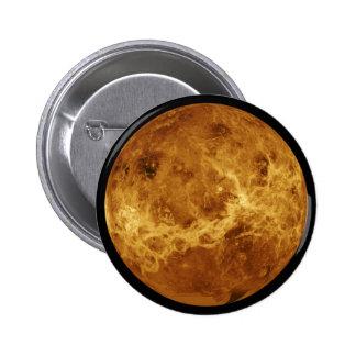 Photograph of the Venus planet 6 Cm Round Badge