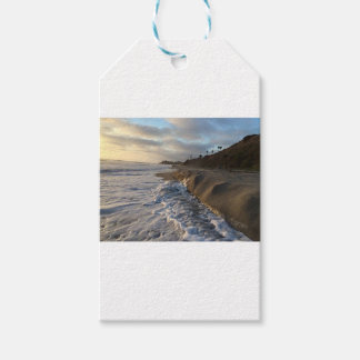 Photograph of the waves hitting the sand gift tags