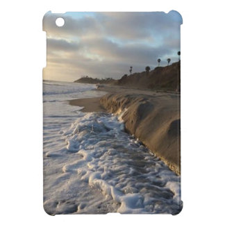 Photograph of the waves hitting the sand iPad mini case