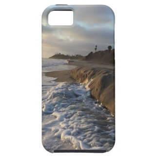 Photograph of the waves hitting the sand iPhone 5 case