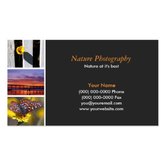 Photographer  2 Double-Sided standard business cards (Pack of 100)
