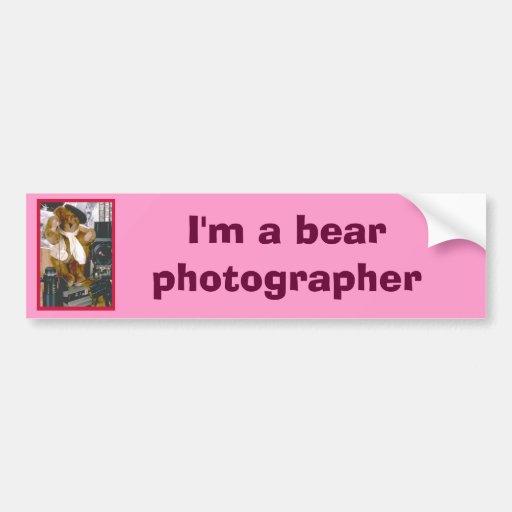 Photographer Bear Bumper Sticker