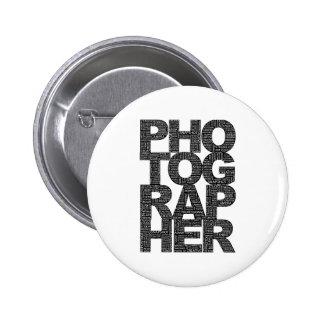Photographer - Black Text 6 Cm Round Badge