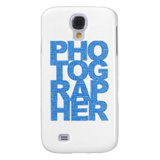 Photographer - Blue Text Galaxy S4 Covers