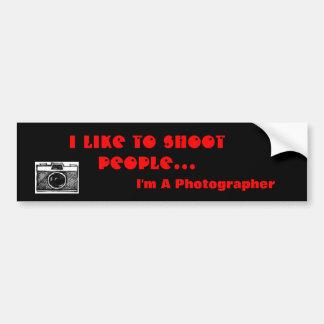 Photographer Bumper Sticker