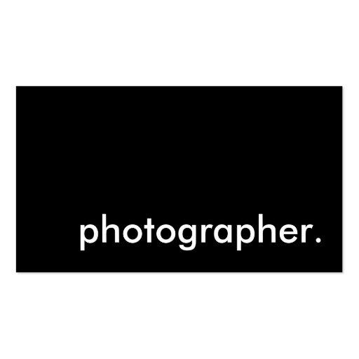 photographer. business card templates