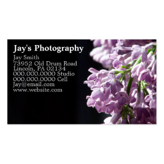 Photographer Business Cards Lilac