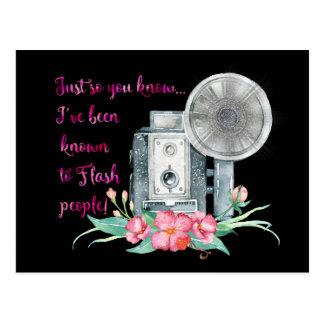 Photographer Camera Flash Postcard