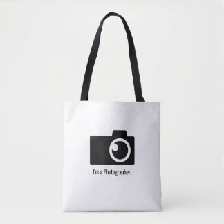 Photographer Camera Logo Minimal Tote Bag