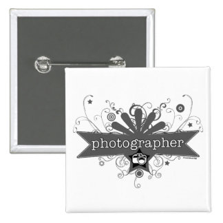Photographer Carnival-Style 15 Cm Square Badge
