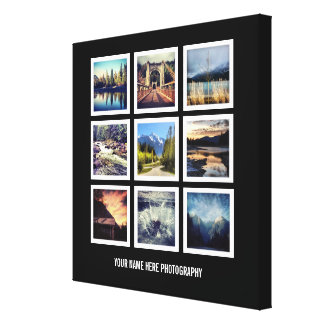 Photographer Display 9 Square Photos Grid Gallery Wrapped Canvas