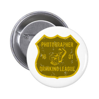 Photographer Drinking League 6 Cm Round Badge