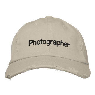 Photographer Embroidered Cap