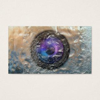 Photographer Frozen Camera Lens Photography Business Card