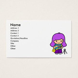 Photographer Girl Business Card