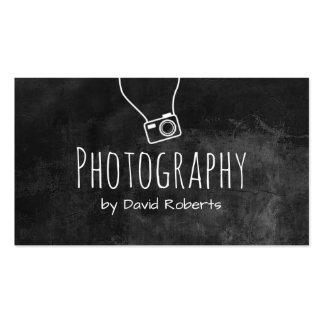 Photographer Hand-Written Chalkboard Pack Of Standard Business Cards